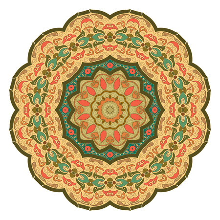 Traditional Round Pattern Vector