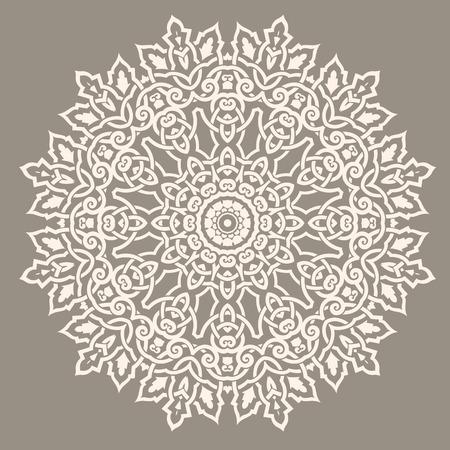 전통적인 원형 패턴