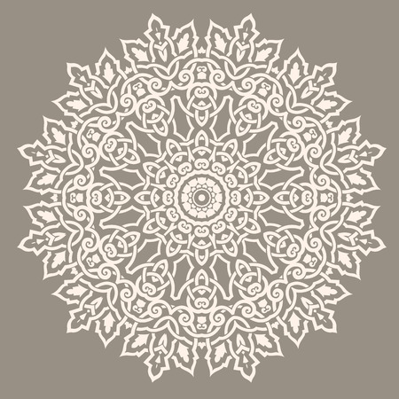 islamic art: Traditional Round Pattern Illustration