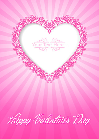 Valentine s Day Card Stock Vector - 26002199