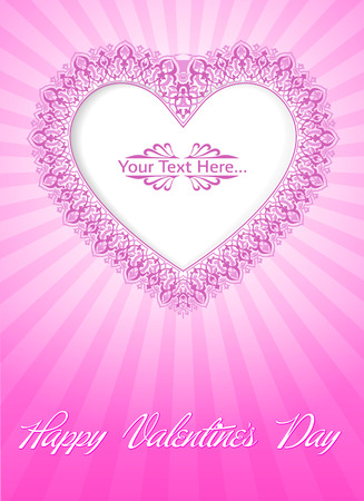 Valentine s Day Card Stock Vector - 26002200