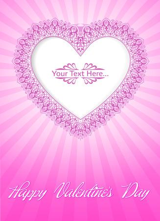 Valentine s Day Card Standard-Bild - 26002200