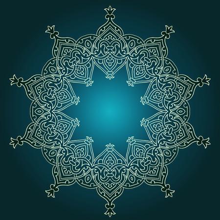 Patrón persa árabe-turco-islámica tradicional