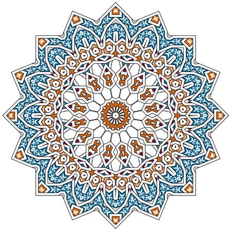 flores fucsia: Patrón persa árabe-turco-islámica tradicional