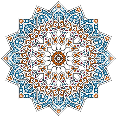 flores fucsia: Patr�n persa �rabe-turco-isl�mica tradicional