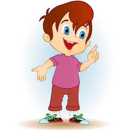 young boy on a white background  Vector
