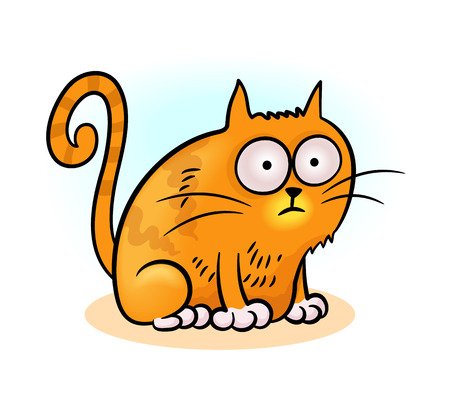 babyish animal: little cat Illustration