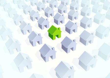 unique house Illustration