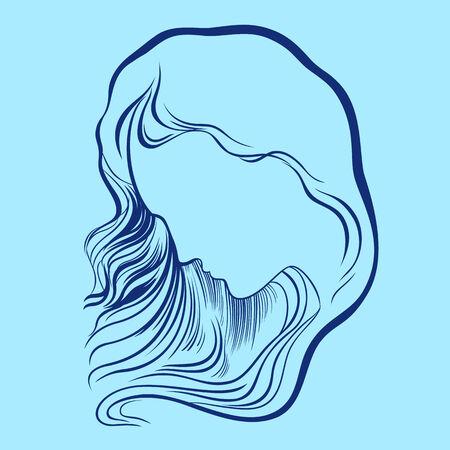 sad lonely girl: Woman Illustration