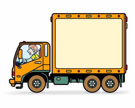 intercity: delivery truck Illustration