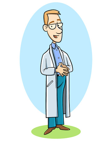 young doctor in uniform Vector