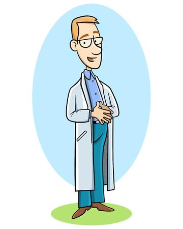 young doctor in uniform Vector