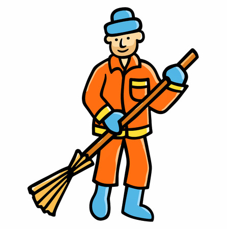 sweeper: street cleaner