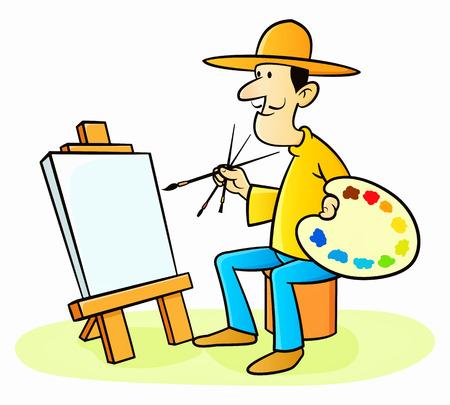 artist painting: Painter Artist