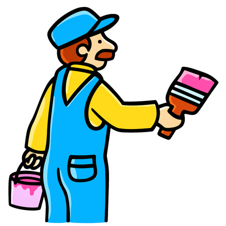 house painter working Vector