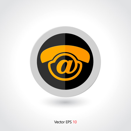 voice mail: Contact us voice mail icon design - Concept voicemail icon