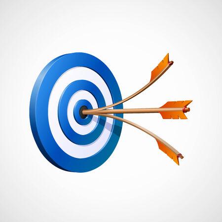 bullseye: Vector Target with two arrows