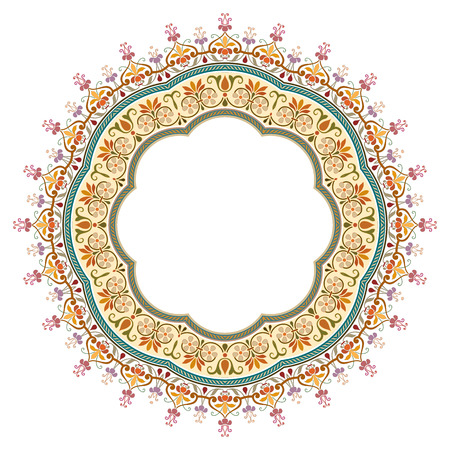 vector abstract circular pattern - frame design