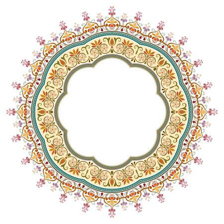 textile: vector abstract circular pattern - frame design