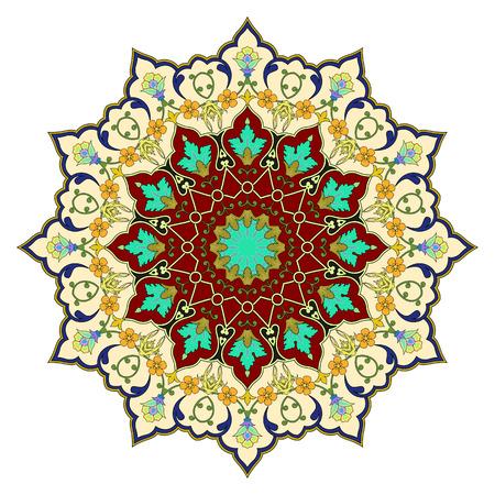 iranian: vector abstract circular pattern design