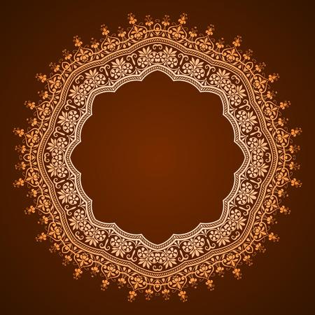 vector abstract circular pattern - frame design Vector