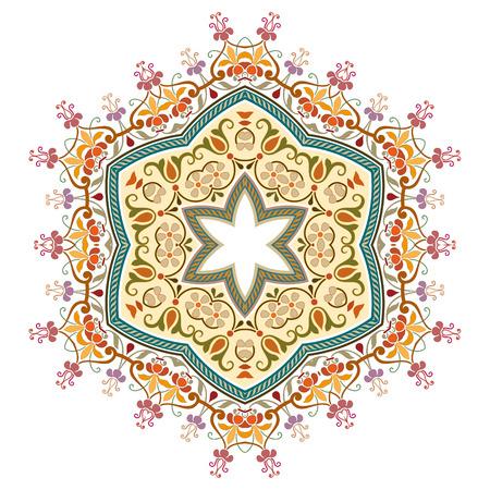 Round pattern, floral pattern Vector