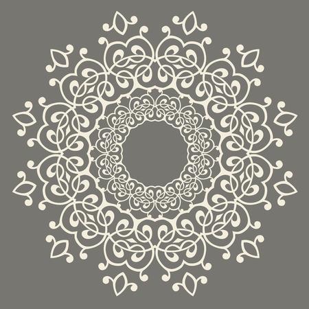 opulence: round pattern.