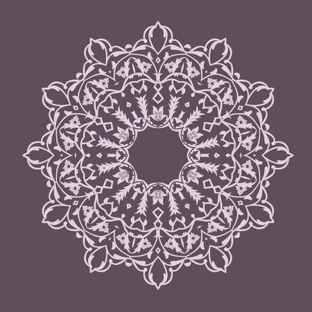 round pattern. Vector