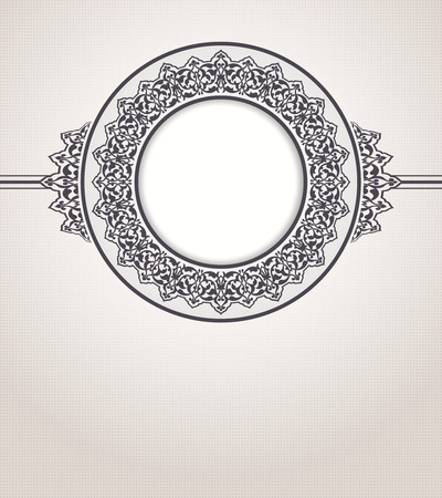 Abstract vector circle floral ornamental border Vector