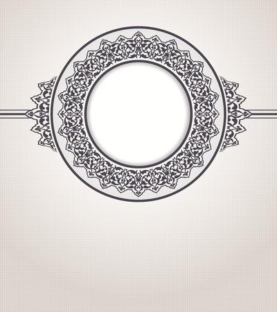 wedding  art: Abstract vector circle floral ornamental border