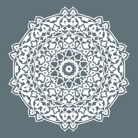 persian art: Round Pattern Mandala. Abstract design of Persian- Islamic-Turkish-Ara bic vector circle floral ornamental border! Illustration