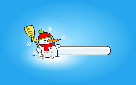 Winter banners with snowmen clipart Vector