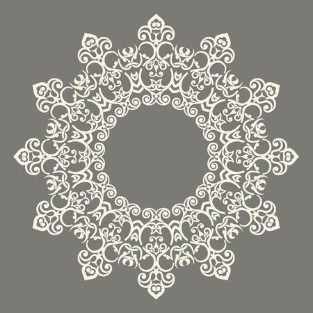 원형 패턴 만다라. Persian- 이슬람 터키 아라 BIC 벡터 원 꽃 장식 테두리의 추상 디자인!