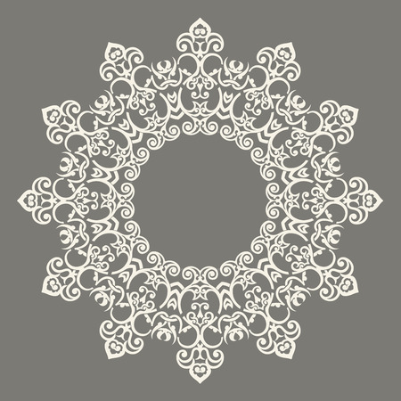 arabic: Round Pattern Mandala. Abstract design of Persian- Islamic-Turkish-Ara bic vector circle floral ornamental border! Illustration
