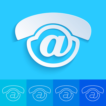 voicemail: Clean and creative conceptual contact us button for web design element - Voicemail icon