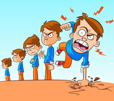 화가 소년. 아이들의 성장과 공격적인 태도