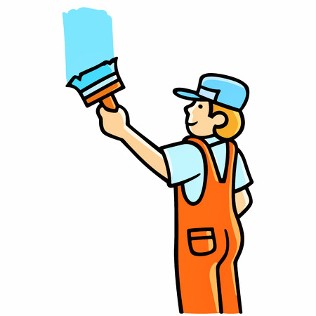 house painter: House Painter Illustration