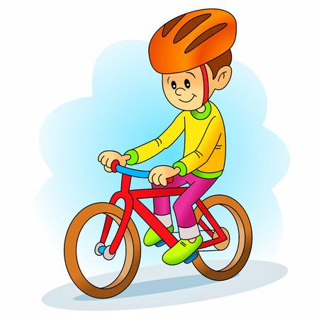 niños en bicicleta: niño de la bicicleta de conducción