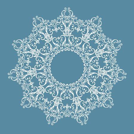 fuchsia flower: round pattern.vector