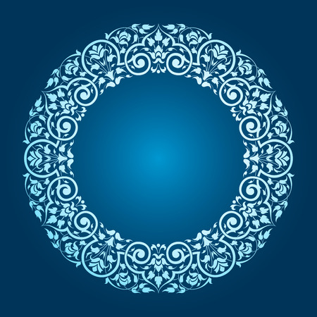 circle flower: round pattern.vector