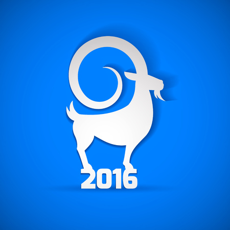 end of year: End of 2015. Happy New Year 2016 vector background and banner