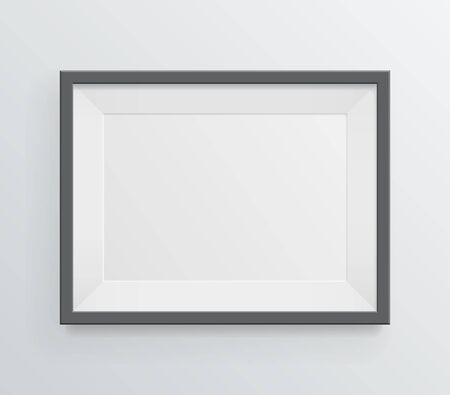 grayscale background: Simple modern blank frame on grayscale background