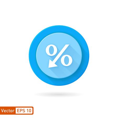 decreasing: Decreasing percentage symbol icon