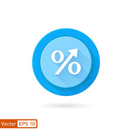 the percentage: Increasing percentage symbol icons