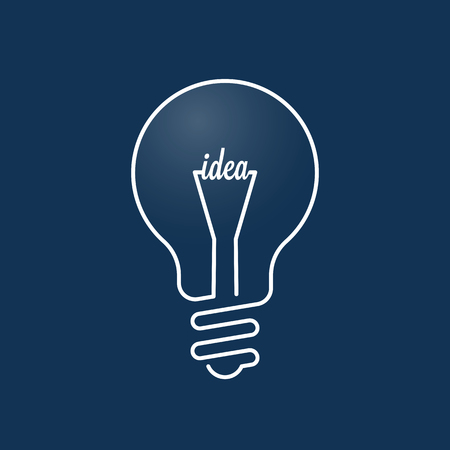bulb light: Light bulb idea concept. Effective thinking, innovation and creative idea conceptual design