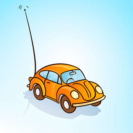 toy car: remote toy car Illustration
