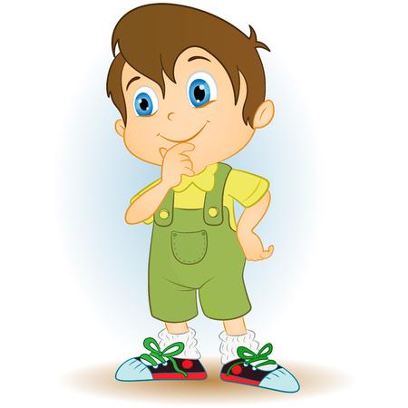 lucky bag: Happy boy cartoon