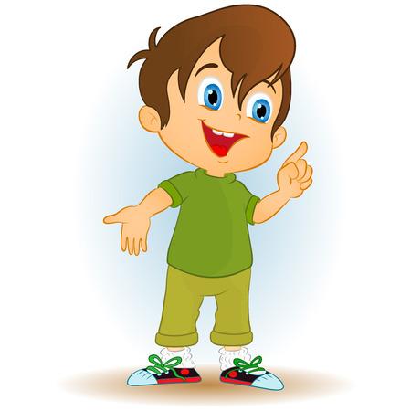 cartoon child: happy carton boy Illustration