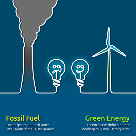 climate change: Green energy VS polluting fossil fuels