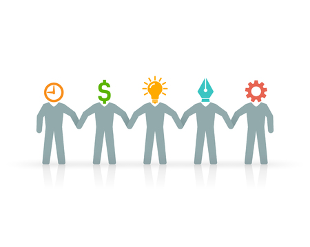 manager team: Professionals in expert team, include designer, engineer, manager, sponsor, and a creative leader